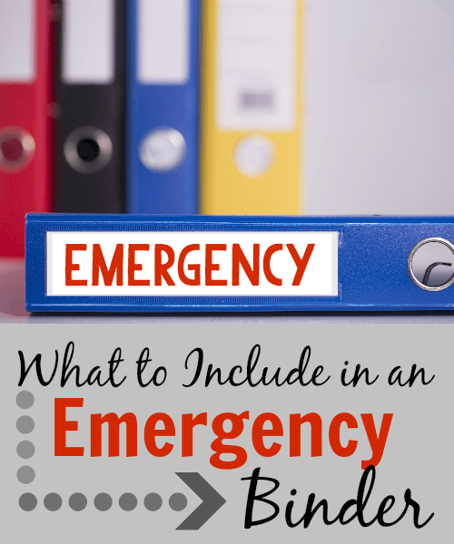 How To Make Your Own Emergency Binder
